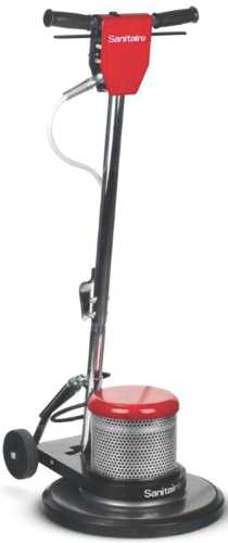 SANITAIRE� FLOOR MACHINE WITH 50' POWER CORD, DUAL SPEED, 1.5 HP COMMERCIAL MOTOR, 17""