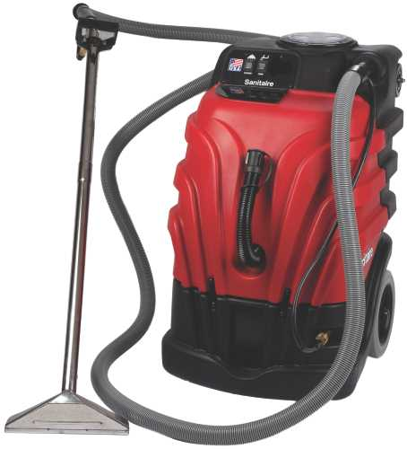 SANITAIRE� CARPET EXTRACTOR, 12 AMPS. COMMERCIAL MOTOR, 10.0 GALLON TANK