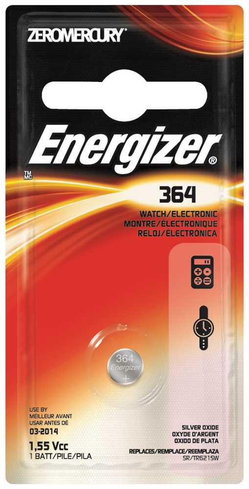 ENERGIZER BATTERY 1.5V SILVER OXIDE 364