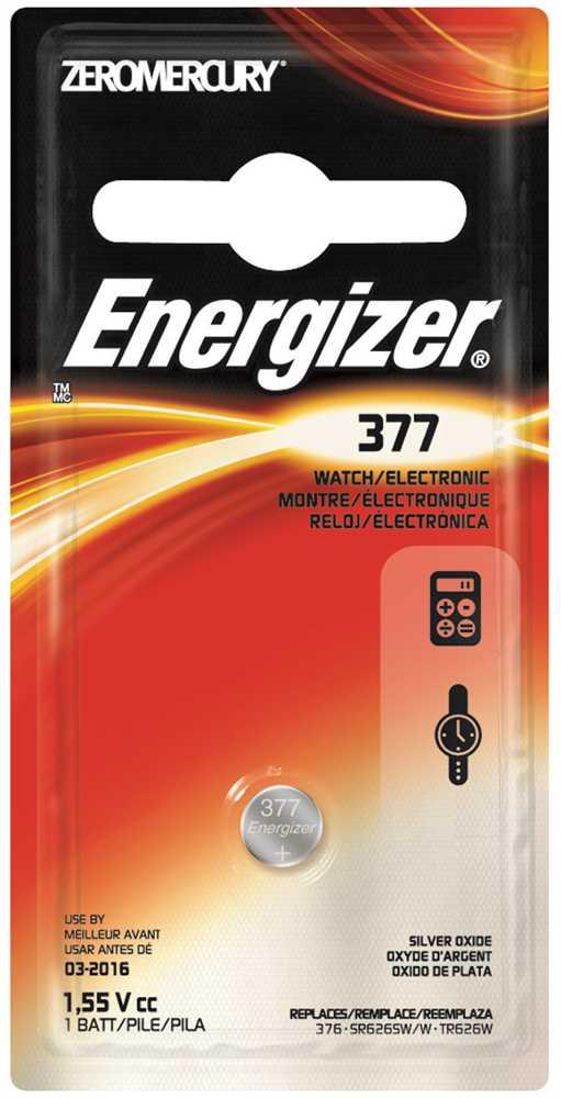 ENERGIZER BATTERY 1.5V SILVER OXIDE 377