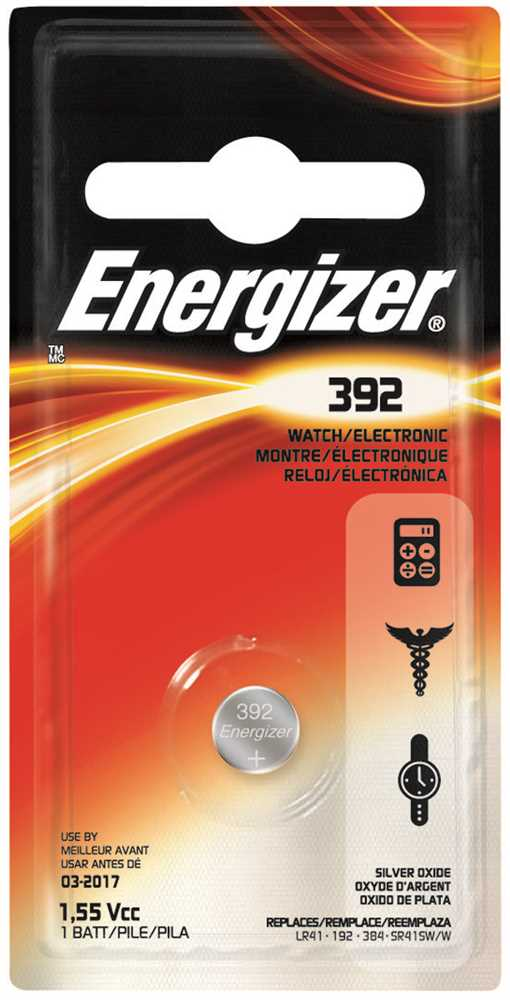 ENERGIZER� 392 SILVER OXIDE BATTERY, 1.5 VOLTS