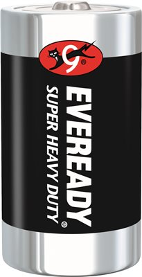 EVEREADY HEAVY-DUTY BATTERY D, 12 PACK