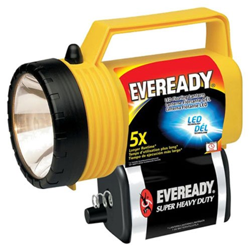 EVEREADY� LED FLOATING LANTERN, YELLOW, USES (1) 6-VOLT SPRING TERMINAL BATTERY