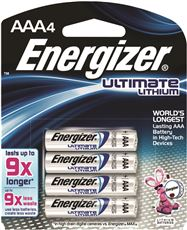 ENERGIZER ULTIMATE BATTERY AAA LITHIUM, 4 PACK