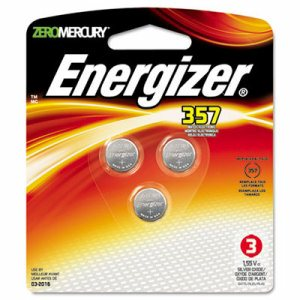 Watch/Electronic Battery, SilvOx, 357, 1.5V, MercFree, 3/Pk