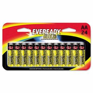 Gold Alkaline Batteries, AA, 24 /Pk