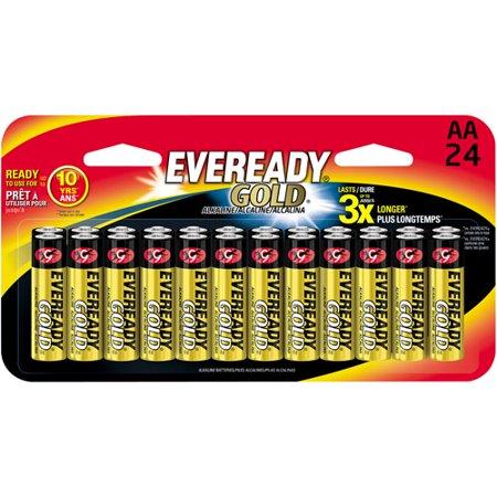 Gold AA Batteries, 1.5V, 24/Pack