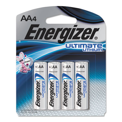 Ultimate Lithium Batteries, AA, 4/Pack