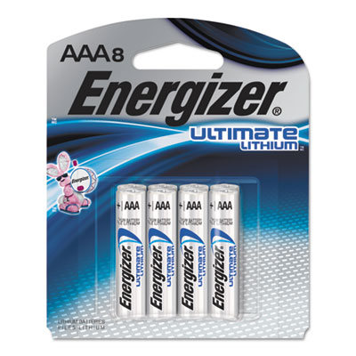 Ultimate Lithium Batteries, AAA, 8/Pack