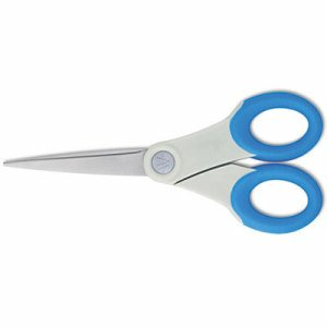 "Soft Handle Scissors With Antimicrobial Protection, Blue, 7"" Straight"