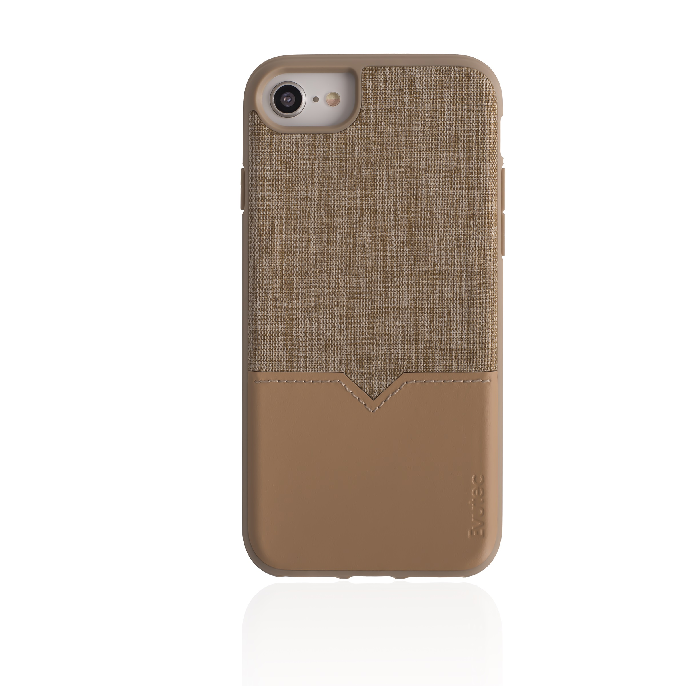 EVUTEC NH680MTD01 TAN IPHONE CASE FOR 6 6S 7 7S & 8 WITH