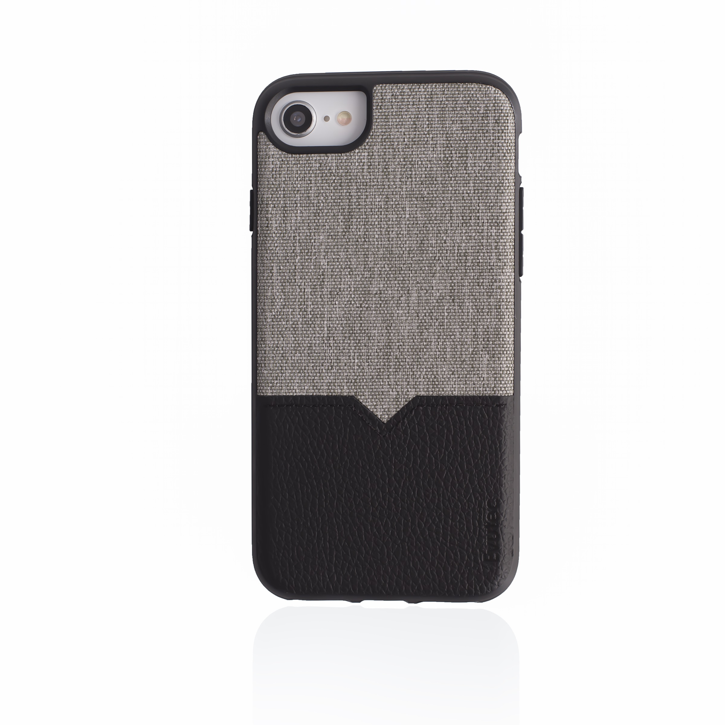 EVUTEC NH680MTD04 BLACK & GRAY IPHONE CASE FOR 6 6S 7 7S & 8