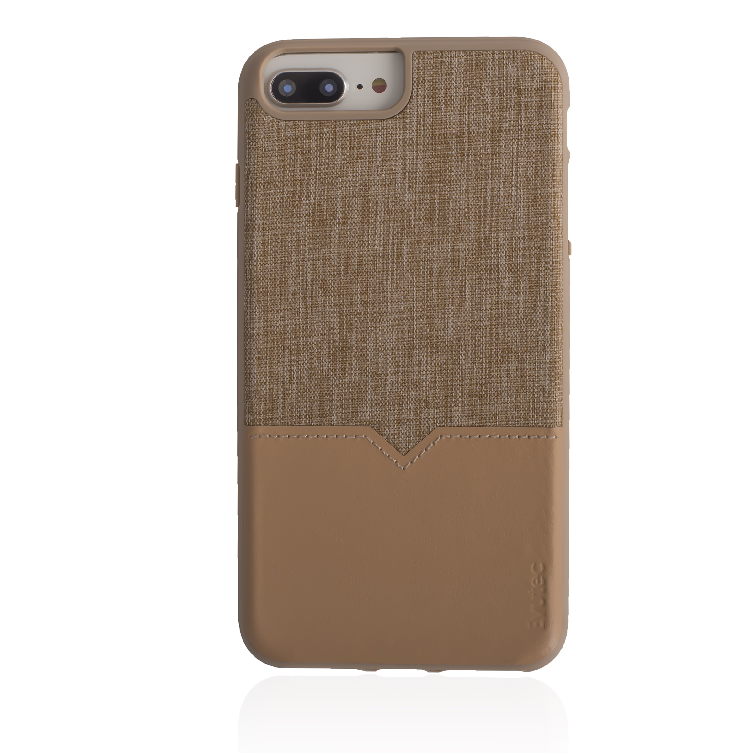 EVUTEC NH68PMTD01 TAN IPHONE CASE FOR 6 6S 7 7S & 8 PLUS WITH