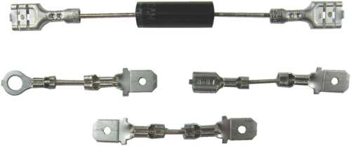 "UNIVERSAL DIODE KIT USING TWO 1/4"" FEMALE QUICK DISCONNECT TERMINAL ADAPTERS"