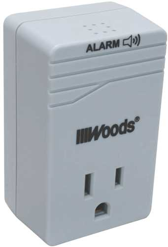 SURGE PROTECTOR WITH ALARM, 900 JOULES 1 OUTLET, 15A, 120V, 1800W