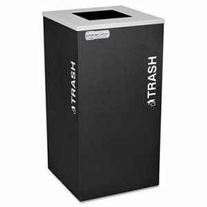 Kaleidoscope Collection Recycling Receptacle, 24gal, Black