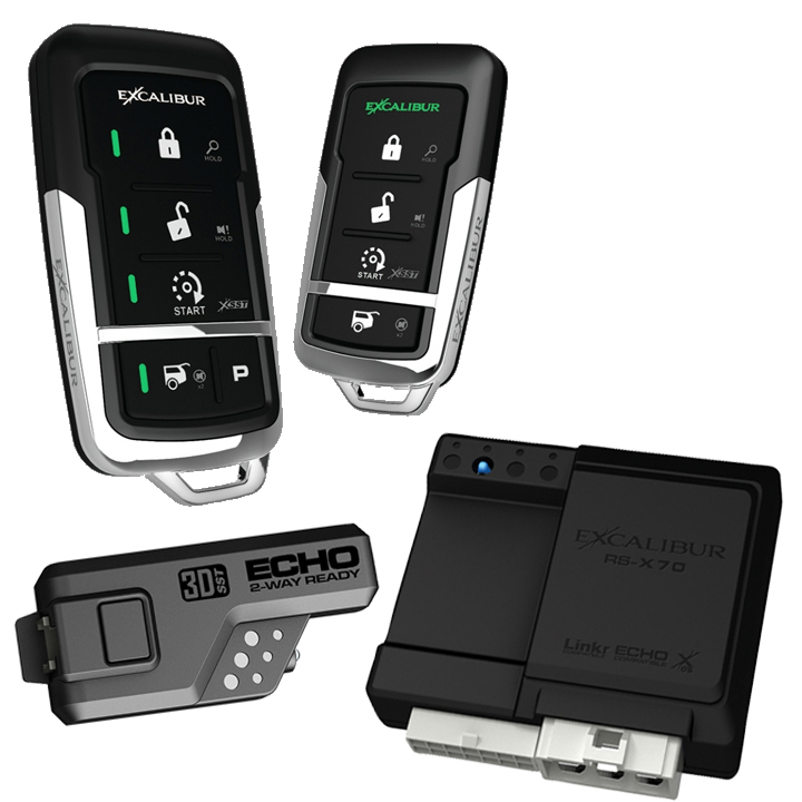Excalibur 900MHz LED 2-Way  Keyless Entry & Remote Start (Linkr Ready)