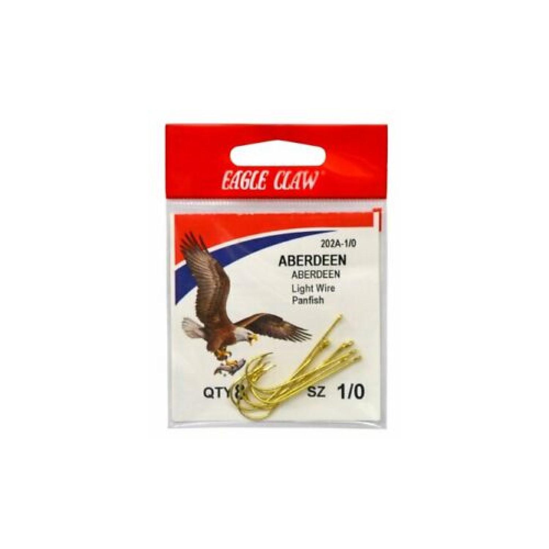 Eagle Claw Gold Abrdn Hooks 10Pk Size1/0