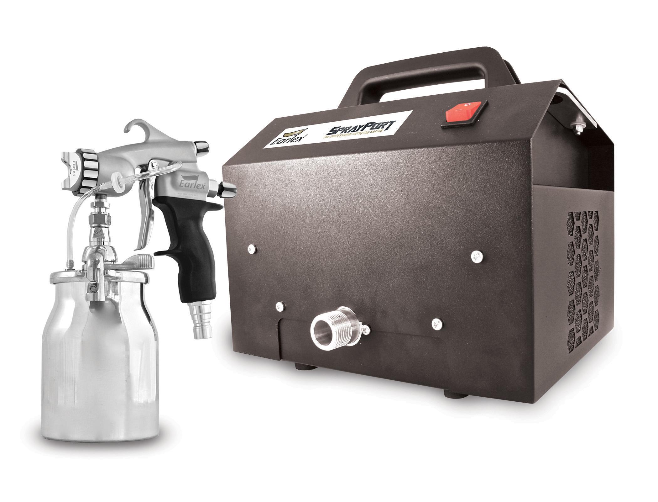 Spray Port 6003 with pressure feed Pro 8 spray gun