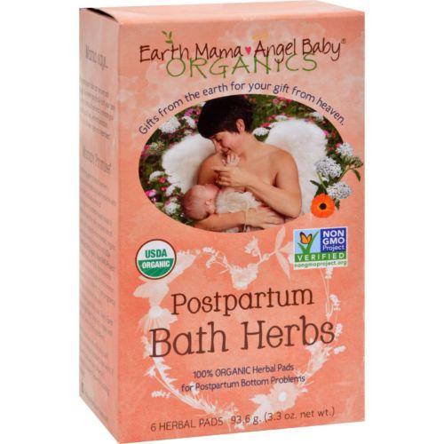 Earth Mama Angel Baby Postpartum Bath Herbal Pads (1x6 Ct)