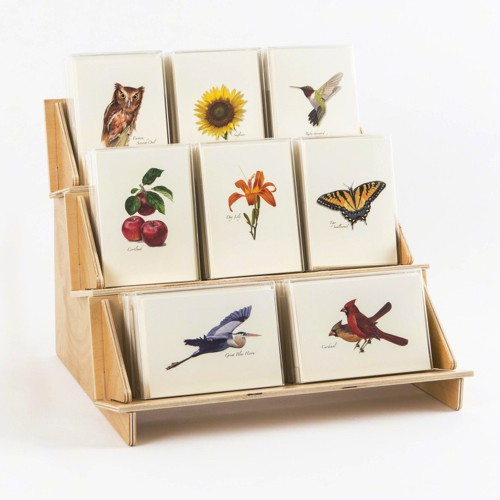 3-Tier Small Boxed Notecard Display