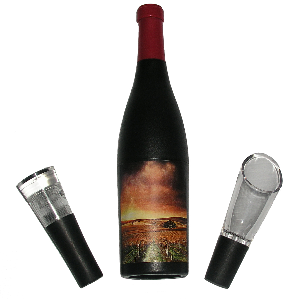 3 Piece Wine Bottle-Shaped Corkscrew Gift Set