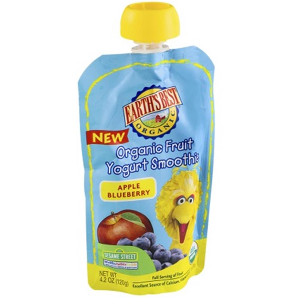 Earth's Best - Organic Apple Blueberry Yogurt Smoothie ( 12 - 4.2 OZ)