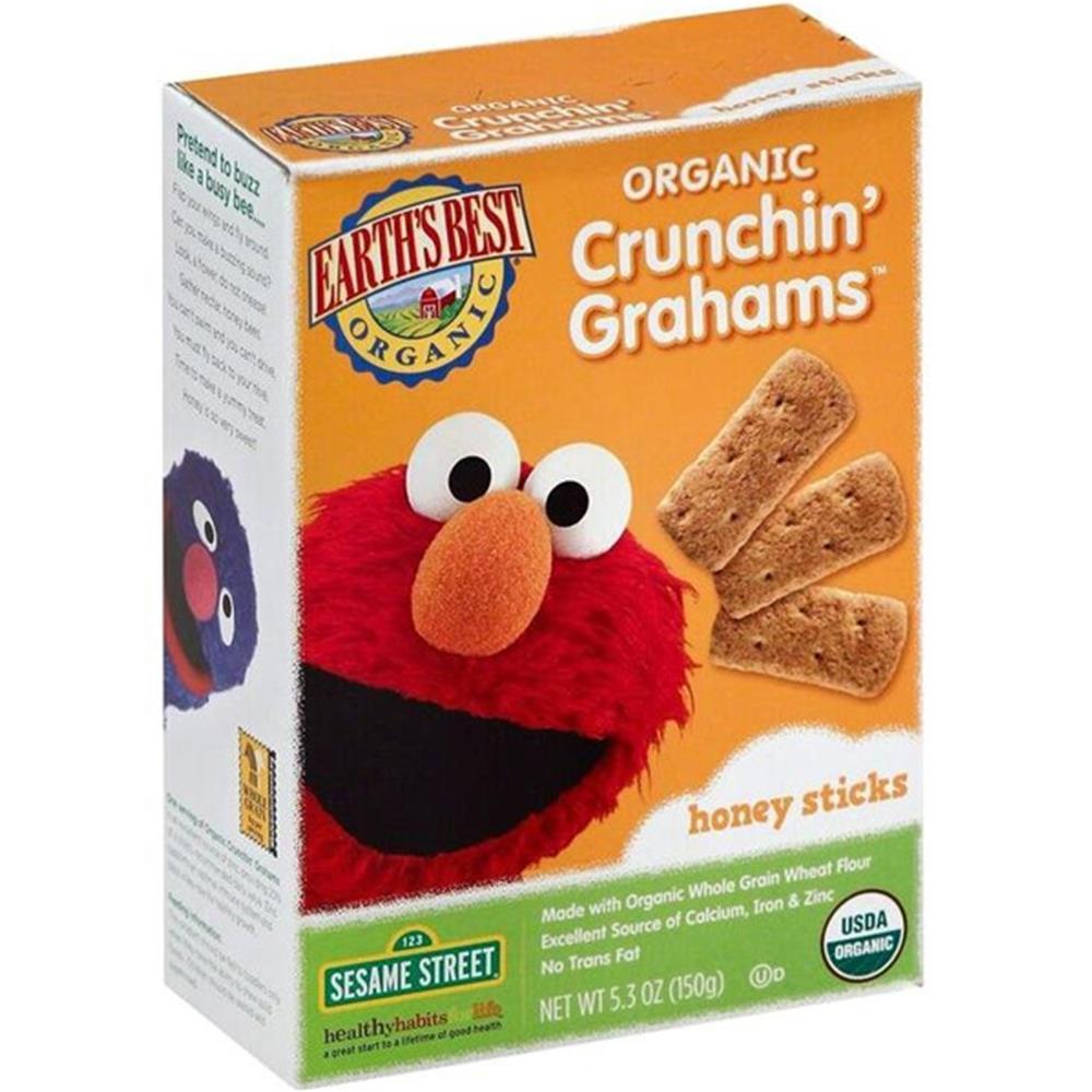Earth's Best - Organic Sesame Street Crunchin' Grahams Honey Sticks ( 6 - 5.3 OZ)