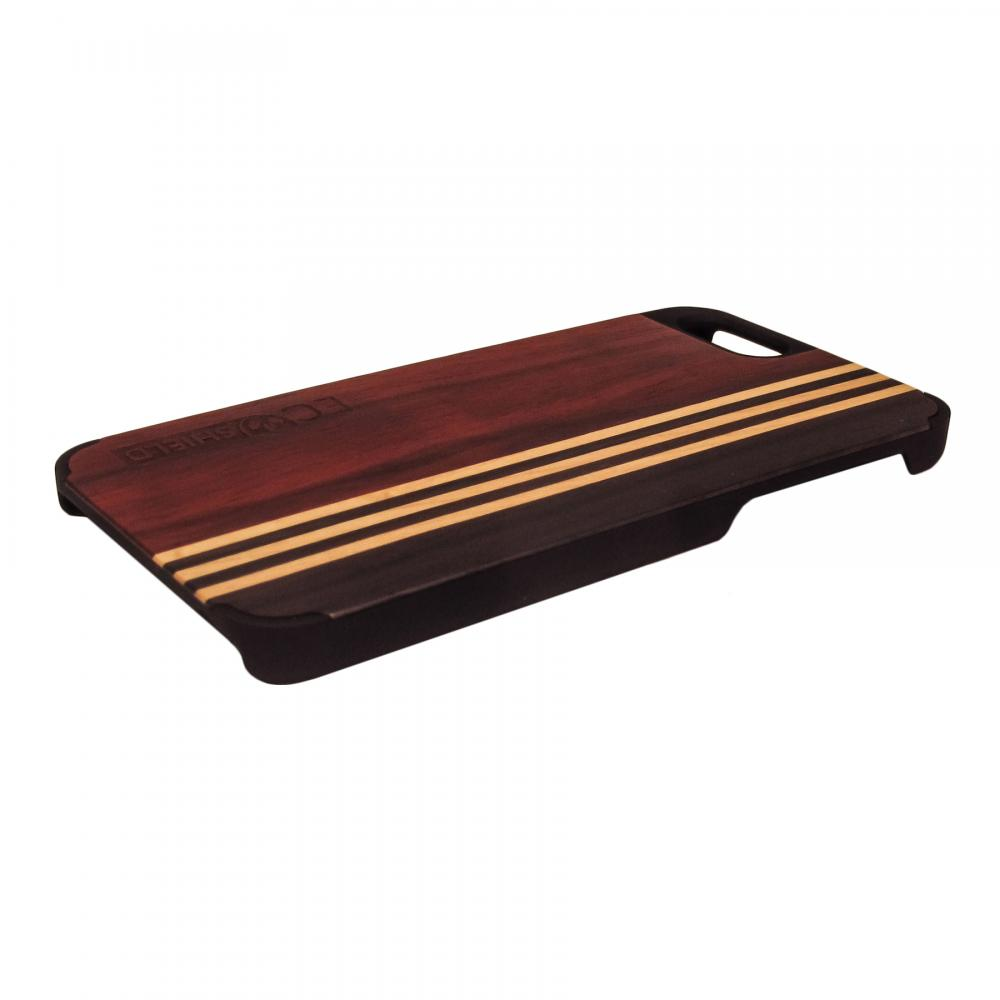 Eco Shield Natural Wood Case for iPhone 6, Forest Symphony (Rosewood, Maple, Ebony)