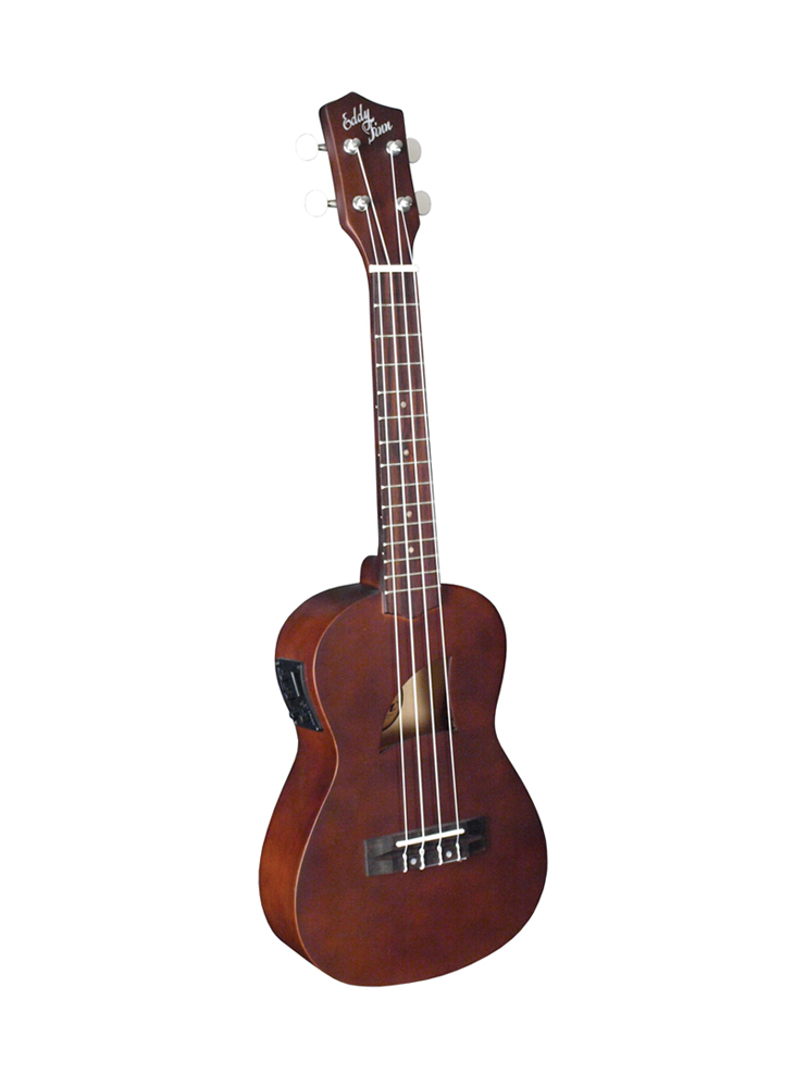Eddy Finn Conert Ukulele W/ Aquila Strings / Electric