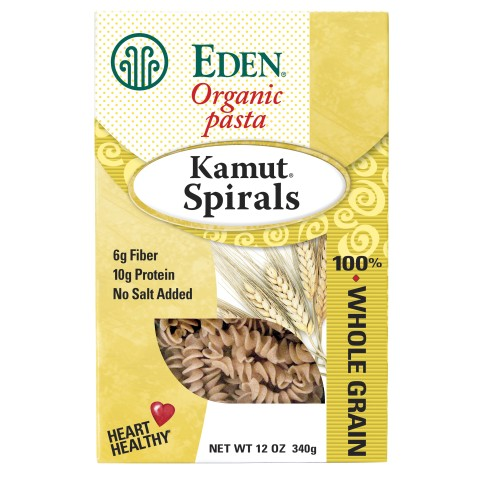 Eden Foods Whole Kamut Spirals (6x12 Oz)