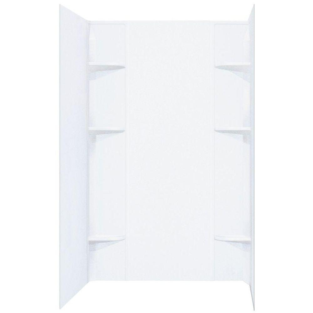 DURAWALL� THERMOPLASTIC SHOWER WALL KIT, 5 PIECES, WHITE, 40 X 60 IN.
