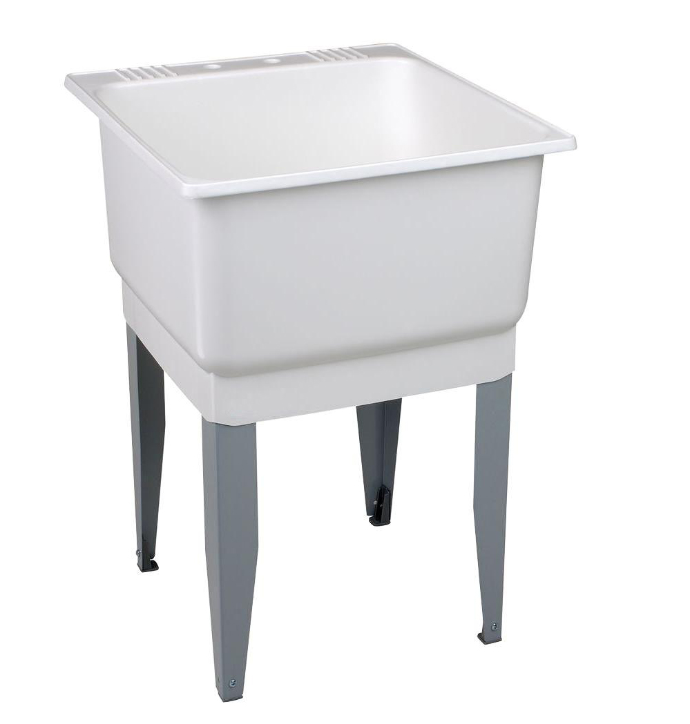 UTILATUB� 20-GALLON FLOOR-MOUNT LAUNDRY/UTILITY TUB, 33 X 23 X 25 IN., WHITE