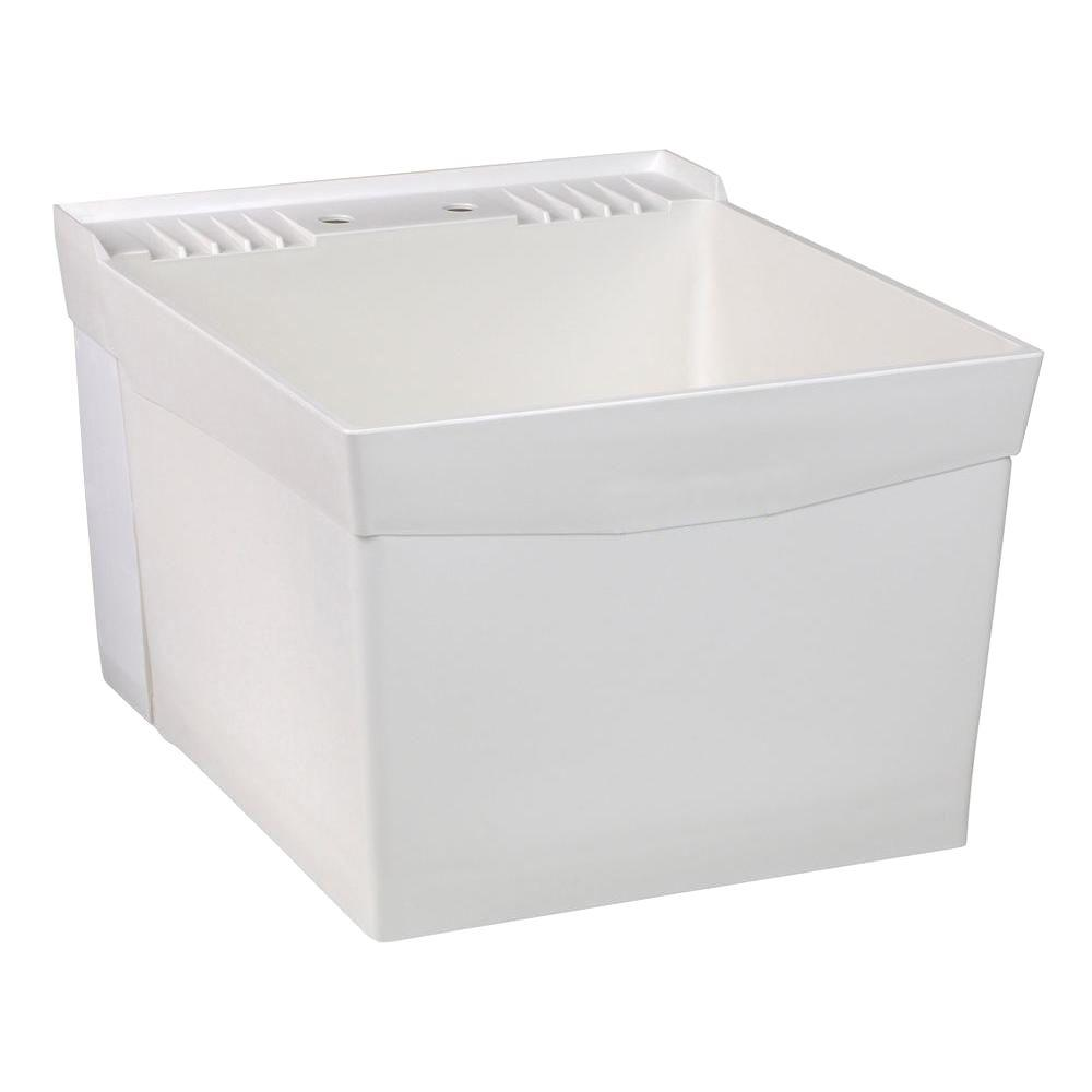 UTILATUB� 18-GALLON WALL-MOUNT LAUNDRY/UTILITY TUB, 34 X 20 X 24 IN., WHITE