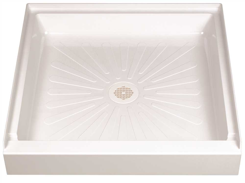 DURABASE� FIBERGLASS SQUARE SHOWER FLOOR, WHITE, 32 X 32 IN.