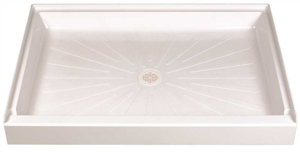DURABASE� FIBERGLASS RECTANGULAR SHOWER FLOOR, WHITE, 34 X 48 IN.