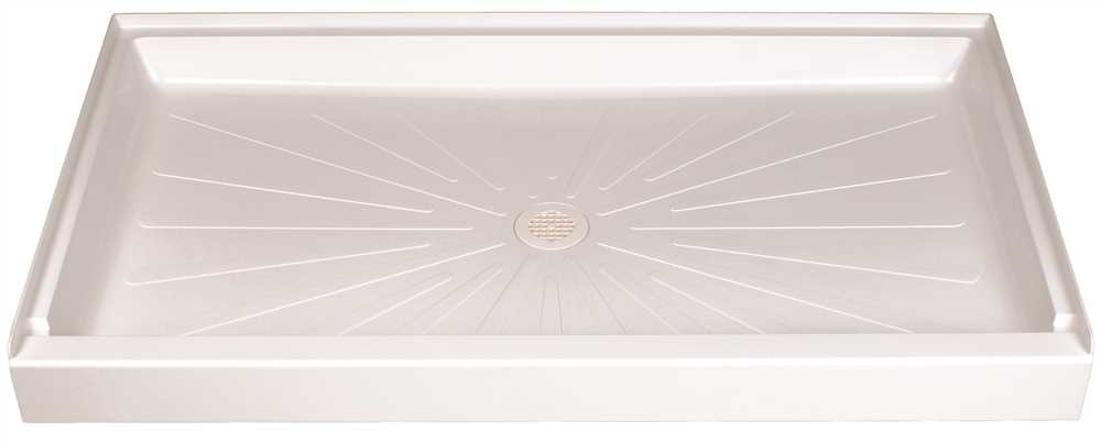 DURABASE� FIBERGLASS RECTANGULAR SHOWER FLOOR, WHITE, 34 X 60 IN.