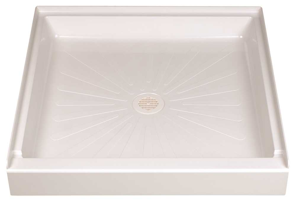 DURABASE� FIBERGLASS SQUARE SHOWER FLOOR, WHITE, 36 X 36 IN.