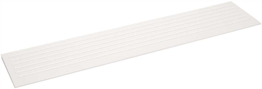 CAREGIVER� FIBERGLASS RECTANGULAR ENTRY RAMP, 12 X 60 IN., WHITE