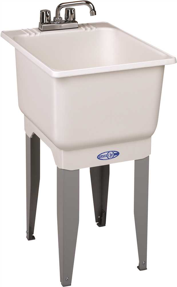 UTILATUB� 15-GALLON FLOOR-MOUNT COMBO LAUNDRY/UTILITY TUB, 33 X 18 X 23-1/2 IN., WHITE