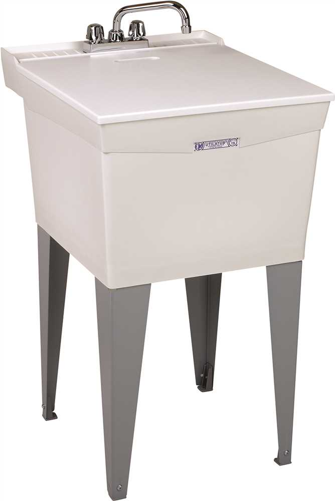 UTILATUB� 18-GALLON FLOOR-MOUNT COMBO LAUNDRY/UTILITY TUB, 34 X 20 X 24 IN., WHITE