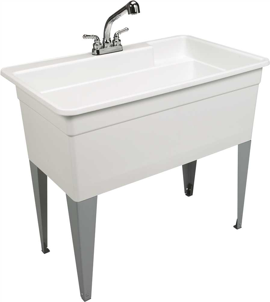 BIGTUB� UTILATUB� 36-GALLON FLOOR-MOUNT COMBO UTILITY TUB, 34 X 40 X 24 IN., WHITE