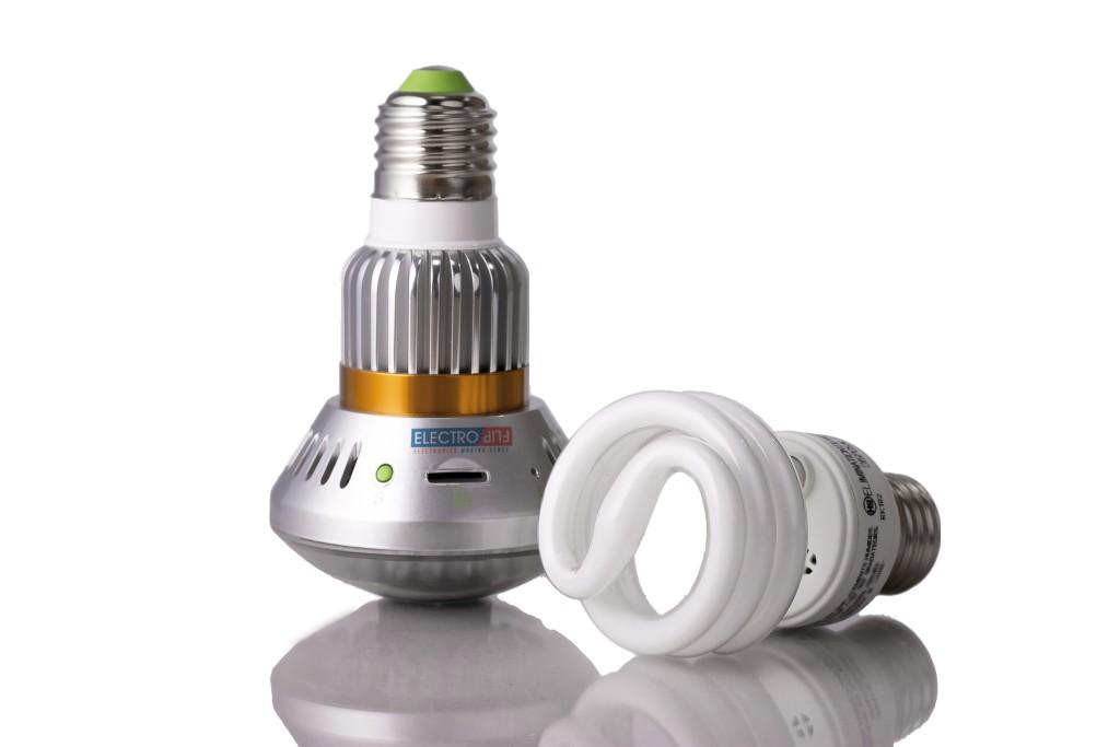 Portable Motion Detect Security Surveillance Dummy Bulb Digital Camera