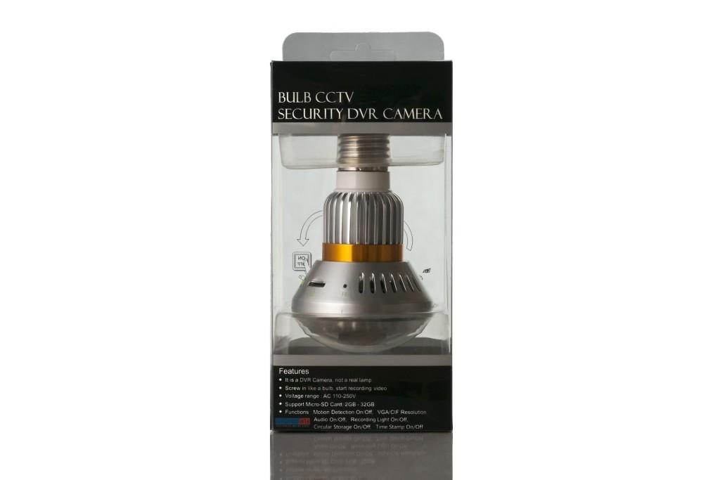 Digital Security Surveillance Cam Nightvision Bulb Disguised CCTV DVR