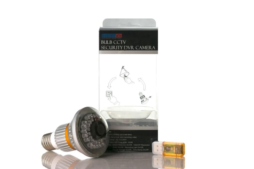 Bulb Designed Motion Detect Security DVR Nightvision Hidden Spy Camera