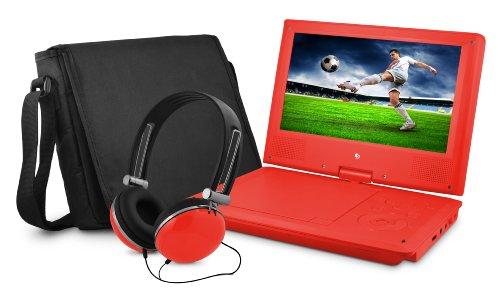 "9"" DVD Player Bundle Red"