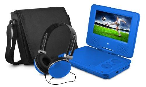 "7"" DVD Player Bundle Blue"