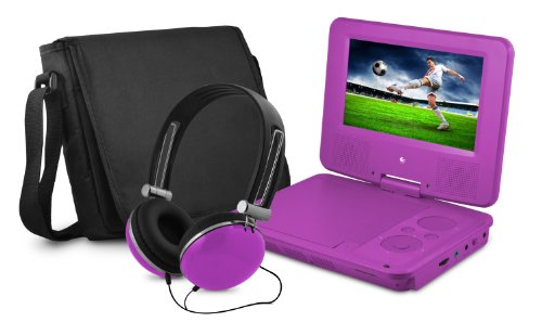 "7"" DVD Player Bundle Purple"