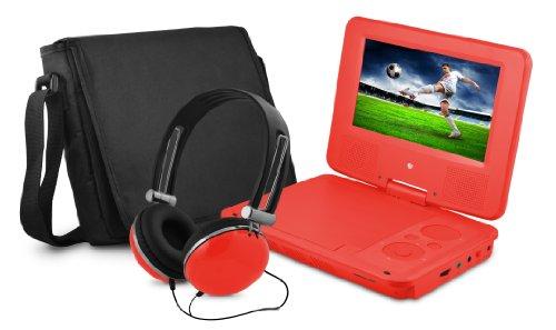 "7"" DVD Player Bundle Red"