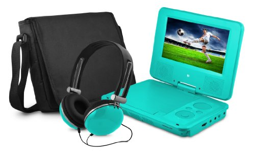 "7"" DVD Player Bundle Teal"
